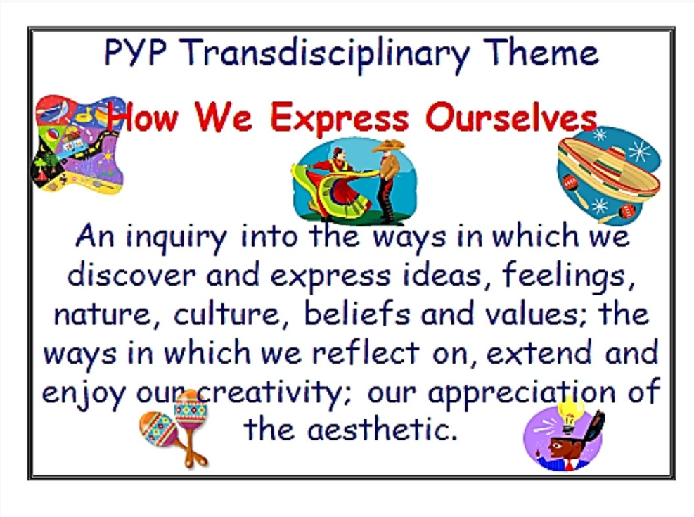 Pyp Exhibition Displays : How we express ourselves rd grade at global our ib